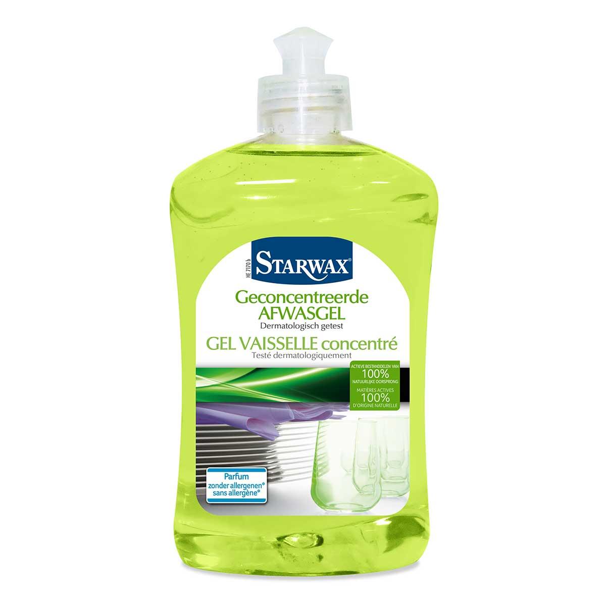 Gel vaisselle concentré à base de matières actives 100% d'origine naturelle - Starwax