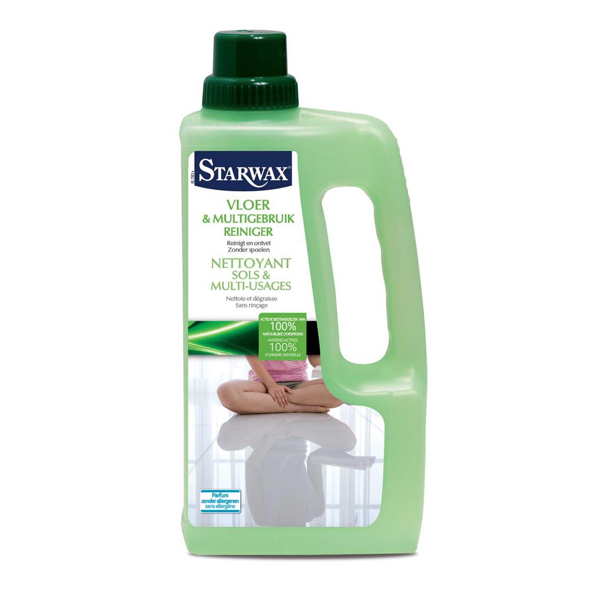Nettoyant sols et multi-usages avec matières actives 100% d'origine naturelle - Starwax