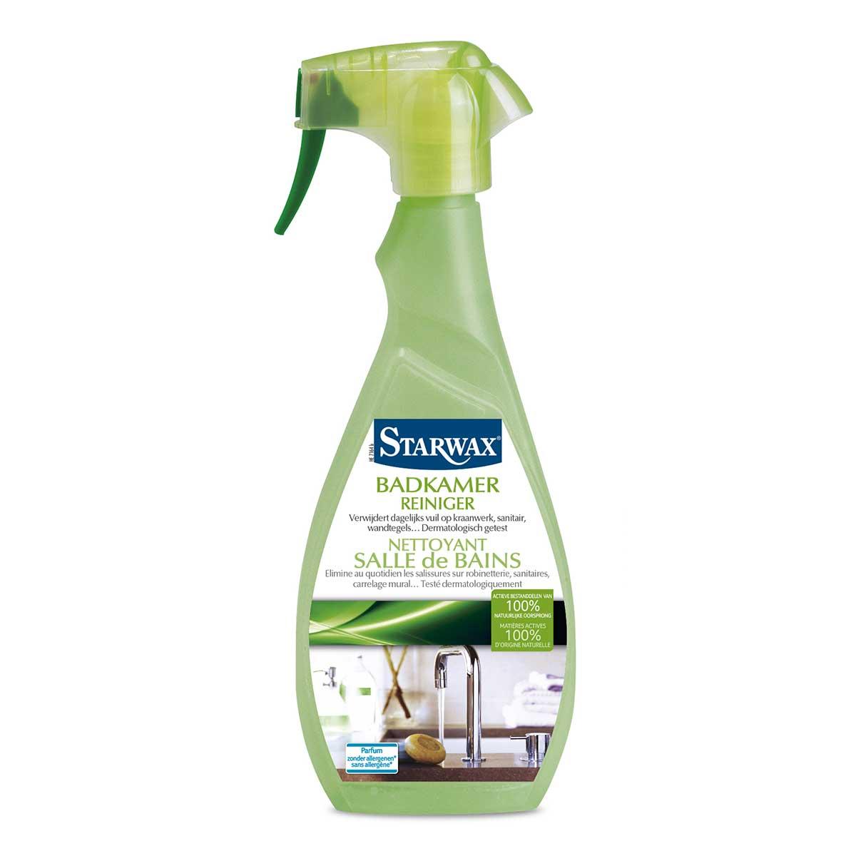 Nettoyant salle de bains avec mati res actives 100 d 39 origine naturelle starwax entretien maison - Salle de bain naturelle ...